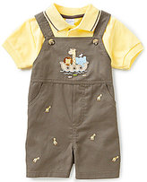 Starting Out Baby Boys Newborn-24 Months Polo Shirt & Giraffe-Embroidered Shortall Set