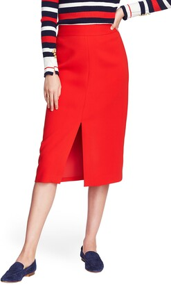 Court & Rowe Front Slit Crepe Pencil Skirt