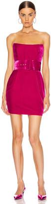 Rasario Velvet Corset Mini Dress in Magenta | FWRD