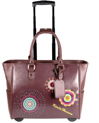 Karla Hanson Tote-Style Rolling Carry-On Luggage Bag - Sophia