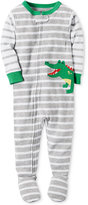 Carter's 1-Pc. Striped Alligator Footed Pajamas, Baby Boys (0-24 months)
