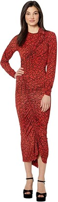 Preen by Thornton Bregazzi Damaris Dress (Red Dragon Scale) Women's Clothing