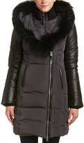 Mackage Cordelia Leather-Trim Down Coat