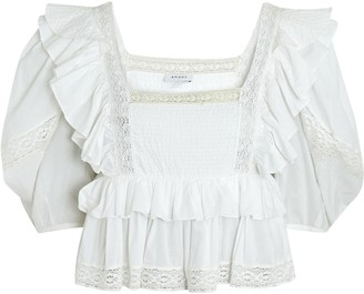 Rhode Resort Charlotte Ruffled Puff Sleeve Top