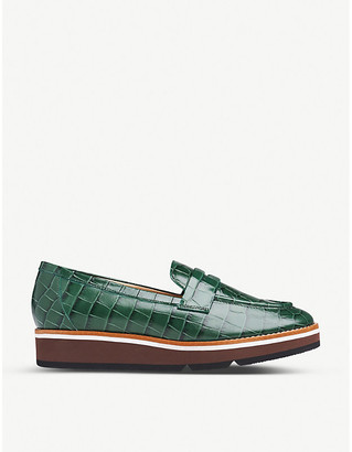 LK Bennett Shana leather flatform loafers