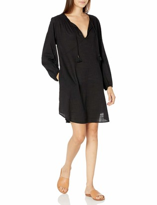 Seafolly Women's Peasant Sleeve Short Dress