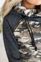 Ampersand Avenue *Exclusive DoubleHoodTM Sweatshirt - Camo Accent