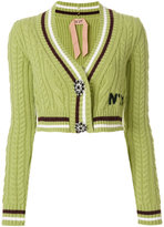 No.21 cropped knitted cardigan