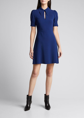 Stella McCartney Blair Keyhole Puff-Sleeve Dress