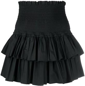 Dondup Stretch Ruffled Mini Skirt
