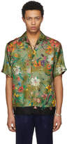 Gucci Green Short Sleeve Flora Print Bowling Shirt
