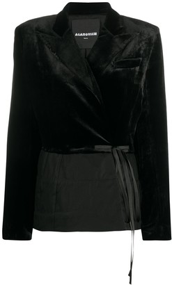 aganovich Velvet Wrap Blazer