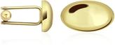 Forzieri Oval Gold Plated Classic Cufflinks