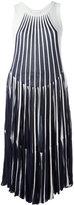 Chloé vertical stripe midi dress - women - Cotton/Polyamide/Spandex/Elastane/Viscose - XS