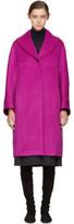 Jil Sander Navy Pink Oversized Wool Coat