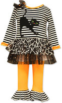 Bonnie Baby Baby Girls' 2-Pc. Halloween Cat Tunic & Leggings Set