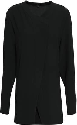 Theory Wrap-effect Crepe Shirt