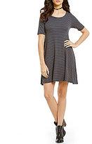 Billabong Lost Heart Striped T-Shirt Dress