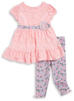 Nannette Girls 2-6x Lace Dress and Floral Leggings Set