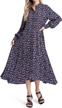 En Saison Ditsy Floral Midi Dress