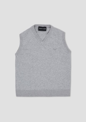 Emporio Armani Cotton V-Neck Gilet