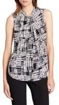Donna Karan Knot-Front Sleeveless Top