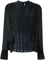 3.1 Phillip Lim contrast panel blouse - women - Silk/Polyamide/Polyester - 8