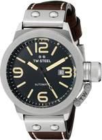 TW Steel Men's CS35 Analog Display Quartz Brown Watch