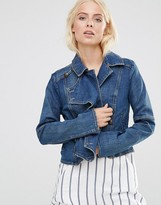 Free People Denim Jacket With Button Detail