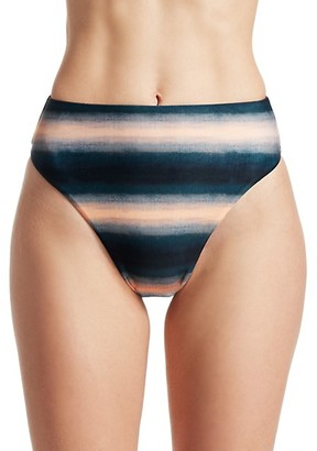 Vix Paula Hermanny Lake Bela Striped High-Rise Bikini Bottoms