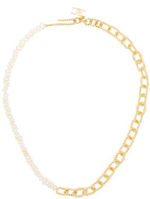 Joanna Laura Constantine Two-Tone Clasp Necklace