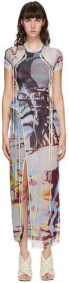 Ottolinger SSENSE Exclusive Multicolor Mesh Maxi Dress
