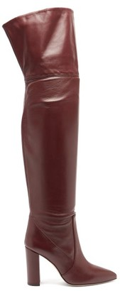 Paris Texas Over-the-knee Leather Boots - Burgundy