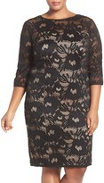Adrianna Papell Carol Lace Sheath Dress (Plus Size)