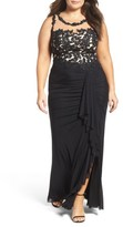 Decode 1.8 Plus Size Women's Illusion Lace Gown