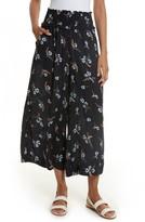 Rebecca Taylor Women's Natalie Fleur Wide Leg Crop Silk Pants