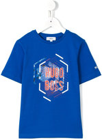Boss Kids - logo print T-shirt - kids - Cotton - 5 yrs