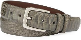 W.KLEINBERG Men's Ostrich Leather Belt