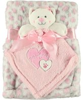 """Baby Gear Pawfect"""" 2-Piece Plush Blanket Set - pink, one"""
