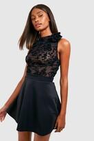 boohoo Basic Micro Fit & Flare Skater Skirt