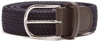 Andersons Woven Elasticated Belt - Navy Multi