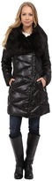Via Spiga Down Coat w/ Exaggerated Faux Fur Collar