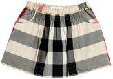 Burberry Check Cotton Poplin Skirt