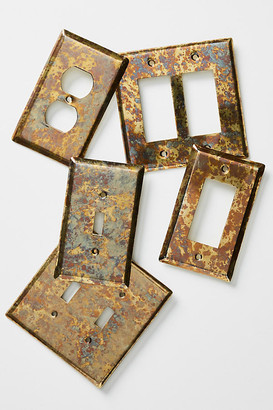 Anthropologie Essex Switch Plate By in Gold Size S