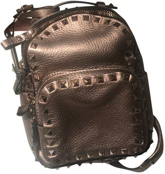 Valentino Rockstud Metallic Leather Backpacks