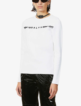 Alyx Logo-embroidered jersey jumper