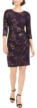 Jessica Howard Petite Floral-Jacquard Sheath Dress