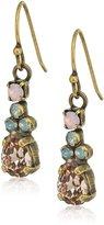 """Sorrelli Peony"""" Petite Pear Crystal Drop Earrings"""