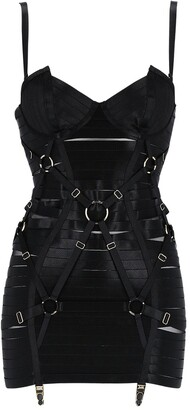 Bordelle Angela Adjustable Bondage Dress W/ Mesh