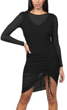 Bebe Side-Ruched Bodycon Dress